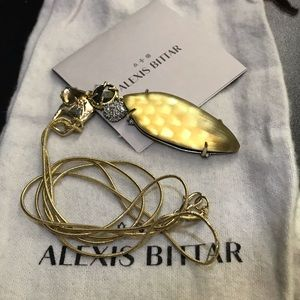 NWOT Alexis Bittar Long Rocky Gold Necklace